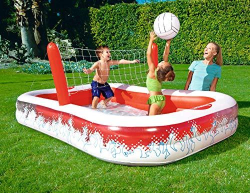 Opblaasbare zwembaden, Buiten opblaasbaar zwembad met volleybal spel voor de baby