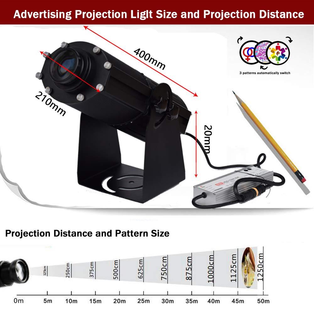 150W LED Imagen Personalizada Proyector Con Logotipo Gobo Luz Con ...