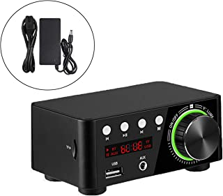 100W Mini Hi-Fi Bluetooth Audio Component Amplifiers 5.0 Power Music Player Stereo Receiver 2.0 Channel Wireless Receiver ...