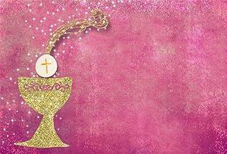 Cassisy 2,2x1,5m Vinilo Bautismo Telon de Fondo Bebita Primera comunión Resplandecer Fondo de Pantalla de Color Rosa Fondos para Fotografia Party Recién Nacido Photo Studio Props Photo Booth