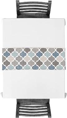 Modern Moroccan Plaid Cotton Linen Table Runner Quatrefoil Geometric Pattern Non-Slip Burlap Rectangle Tablecloths Decor for