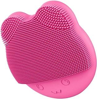 FRCOLOR Gezichtsreinigingsborstel, waterdichte vibrerende gezichtsborstel voor dieptereiniging, zachte peeling en verwijde...
