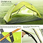 Bessport Camping Tent 1 and 2 Person Lightweight Backpacking Tent Waterproof Two Doors Easy Setup Tent for Outdoor… 6