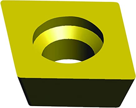 Ultra-Dex DCMT 32.51 UD21 55 Degree Diamond Insert 0.015 Corner Radius Pack of 10 0.375 Inscribe Circle Size 5//32 Thickness 7 Degree Positive Clearance Angle UD21 Grade