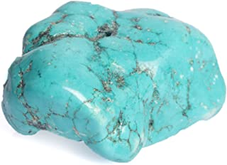Áspero Turquesa Azul Gema 390 CT Turquesa Crudo Natural Desheated Piedra Preciosa BR-617