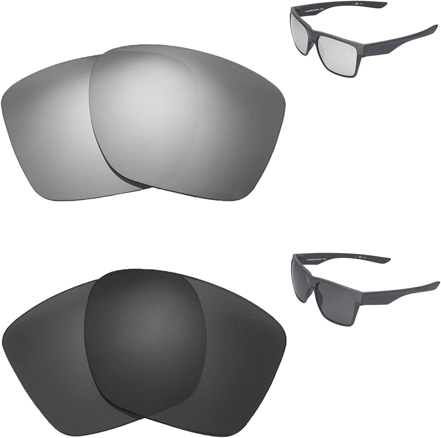 Walleva Polarized Titanium + Black 5% OFF Lenses Year-end annual account Replacement For Oakley
