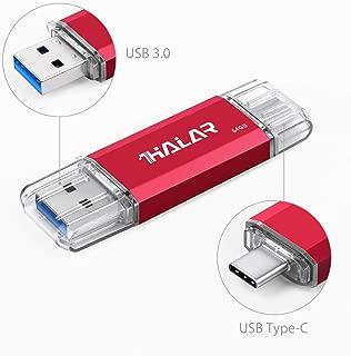 Thkailar 64GB タイプC USBフラッシュドライブ(Type - C usb3 1 gen1 + usb3 0)高速デュアルフラッシュディスクレッド (64GB, Red)