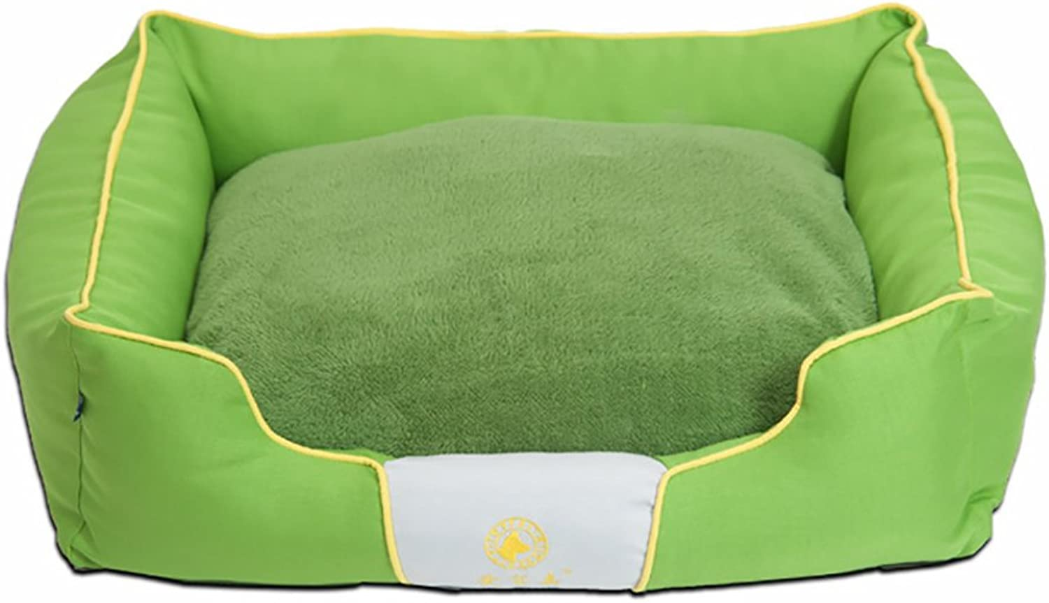 Dogs Bed House Cat Nest mattress cushion Sleeping Bag Small Dogs Best Pet Supplies Full Removable Wash Four Seasons Universal (color   GREEN, Size   L)