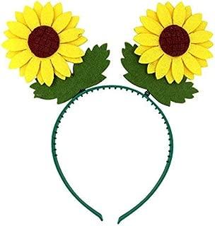 Needzo Kids Yellow Sunflower Bopper Headband Accessory