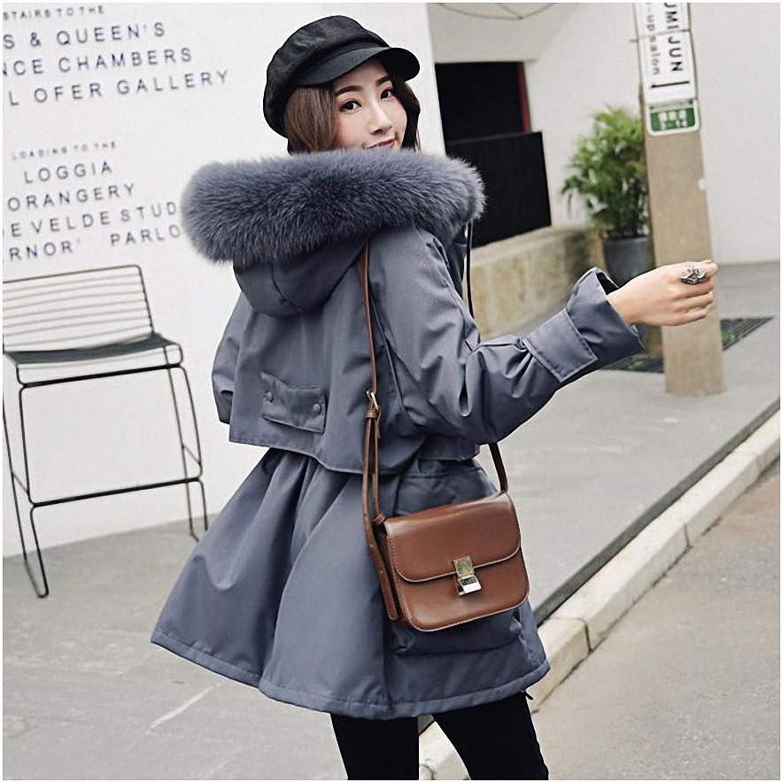 NaNa Women Large Fox Ranking Under blast sales TOP14 Fur Collar Hooded Warm Duck Park White Down