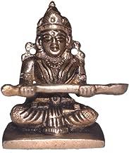 Annapurna Devi Idol in Brass Hindu Religion God Sculpture