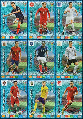 Panini Adrenalyn XL UEFA Euro 2020 Completo Set di Nove (9) Chiave Giocatore Carte #406 - #414