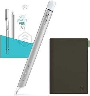 【正規品】Neo smartpen [ペン&ホルダーセット] ネオスマートペンN2 シルバーホワイト デジタル スマートペン & Nホルダーセット [グレー] NWP-F121 for iOS and Android