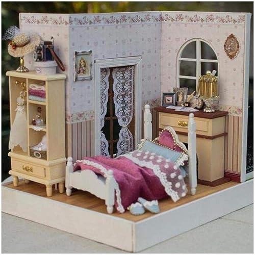 ¡no ser extrañado! FairOnly Casa de muñecas 3D de Madera Madera Madera Hecha a Mano con Muebles, Regalo Creativo para Niños, Happy Time Z001 E  mejor marca