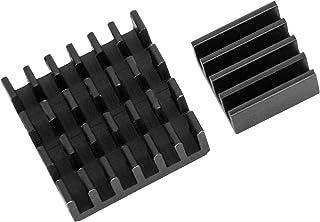 Juego de 2 Passive aluminio disipador en diferentes tamaños para Raspberry Pi Modelo A + B para pegar 1 x 2er Set schwarze Kühlkörper für Raspberry Pi 3