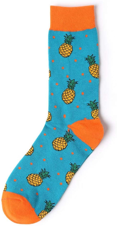 KALENAME (12 Pairs) Socks Cotton Socks Abstract Stockings Personality Men's Socks