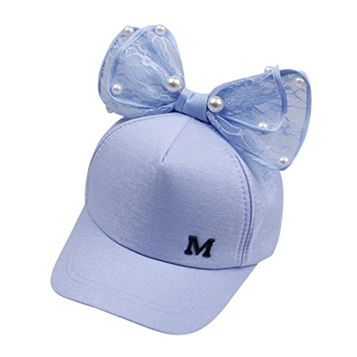 JYC Clearance Cute Kids Children Pearl Bowknot Bongrace Hat Peak Streak M  Baseball Cap Sunhat e8df219a1a36