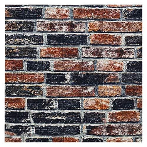 WHYBH HYCSP Tapeten Retro Simulierte Brick-Wand-Dekor Renovierung Wohnzimmer Schlafzimmer Restaurant Wand Coving Wand-Aufkleber (Color : Blue Orange Brick)