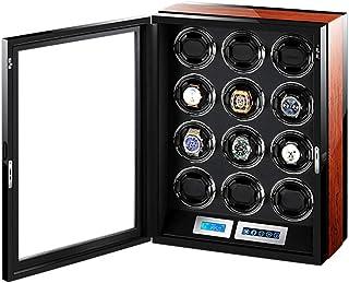 ZNND - ZNND Automático Mira La Cuerda con Mando A Distancia Ver Caja Presentación Pantalla Táctil LCD Almohadas Reloj Flexibles Luz LED Incorporada (Size : 12+0)