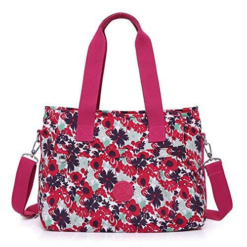 Hiigoo Women's Fashion Handbags Multi-color Totes Purses Nylon Messenger Bag Travel Bags (5#)