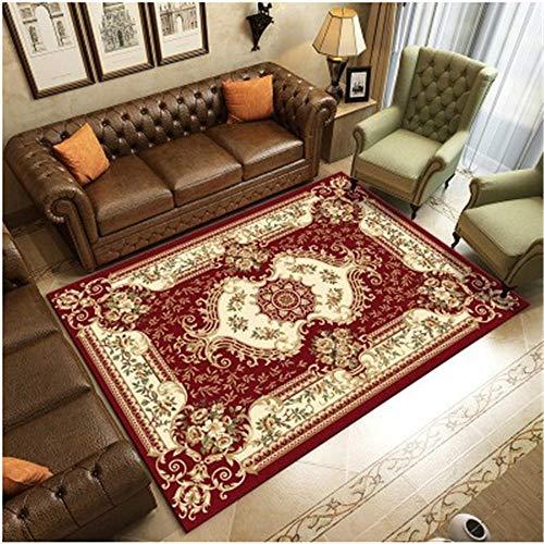 RUGYUW Alfombra Comedor Decoración Tradicional de Estilo étnico Rojo marrón,salón dormitorios Room comedores pasillos Cocina alfombras (6'7''X9'2''ft)