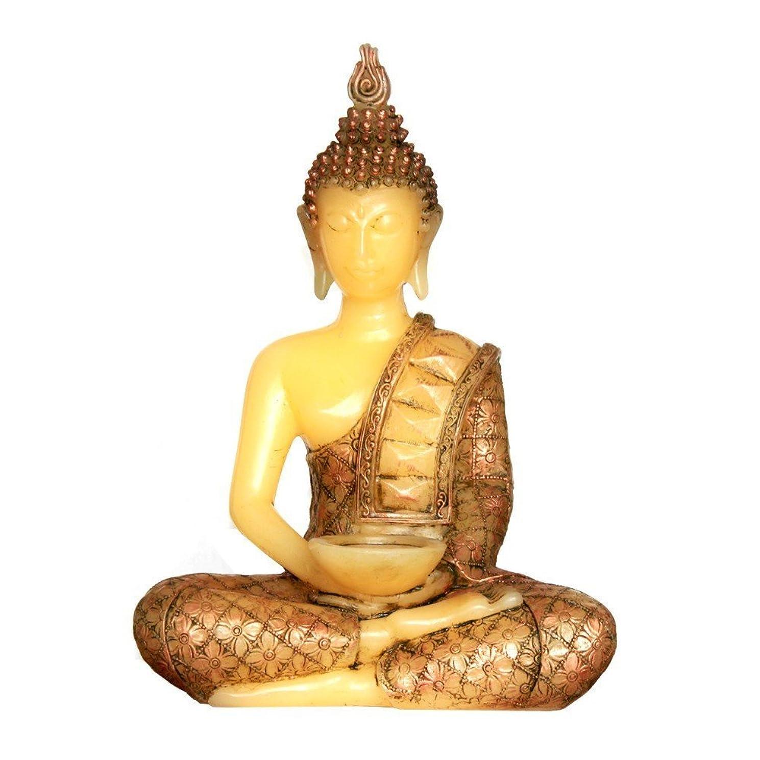 GiveU Meditating Thai Sitting Buddha Decor,Led Light with Timer,13