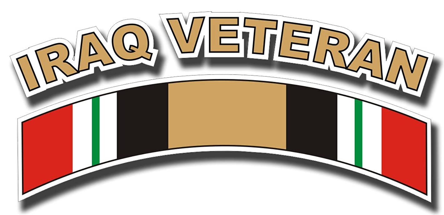 Iraq Veteran Ribbon Decal Sticker 5.5