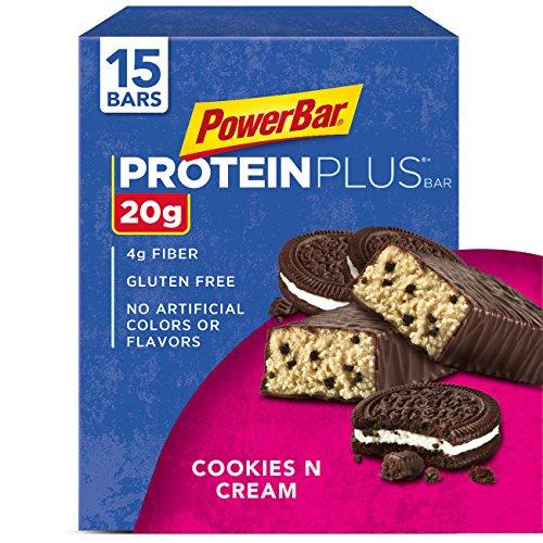 Powerbar Protein Plus Cookies N Cream–15bars–61g (61gram) chaque