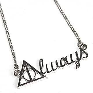 VWH Silver 'Always' Necklace Severus Snape Necklace Harry Potter Jewelry