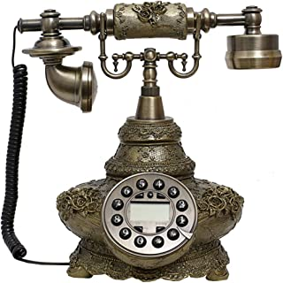 Vintage Antique Style Phone, Vintage Phone Button Dial Fixed Telephone Office Home Living Room Decoration, Wonderful Gifts...