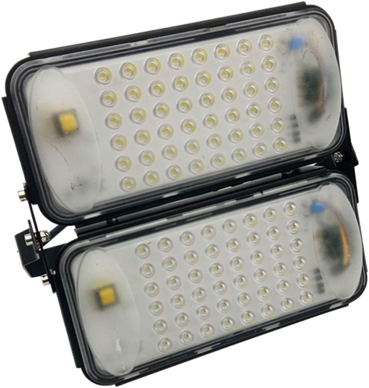 WKZ LED Flutlichtstrahler Flutlicht Sicherheit Lampe Scheinwerfer IP67 Wasserdichte Fabrik Hof Spielplatz Outdoor Worker (Farbe   Warmes Licht-100W)