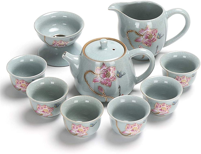 hasta 60% de descuento DONG Juego de té Kung Kung Kung Fu de Regalo de Apertura de cerámica Juego de té de oro Lotus Lotus,A  la mejor selección de