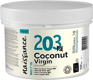 comprar comparacion Naissance Aceite Vegetal de Coco BIO 250g - 100% puro, virgen, prensado en frío, certificado ecológico, vegano y no OGM