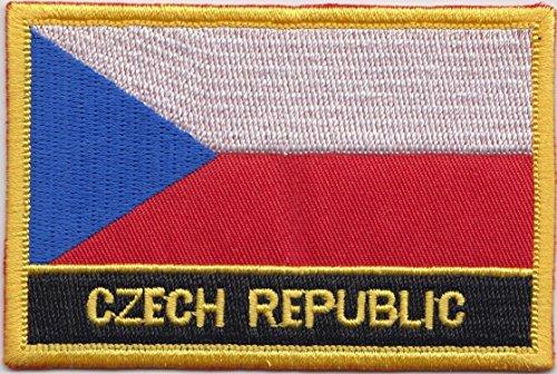 République Tchèque Drapeau Brodé Rectangulaire Patch Badge / à Coudre ou à Repasser - Design Exclusif à partir de 1000 Flags