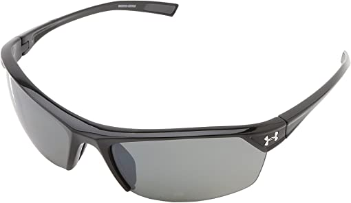 Shiny Black Frame w/ Charcoal Gray Rubber/Gray Polarized w/ Mult