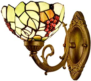 ZKS-KS Outdoor Wall Lamp Wall Lamp Simple Stained Glass Wall Lights Bedroom Bedside Decoration Wall Lamp home Decoration W...