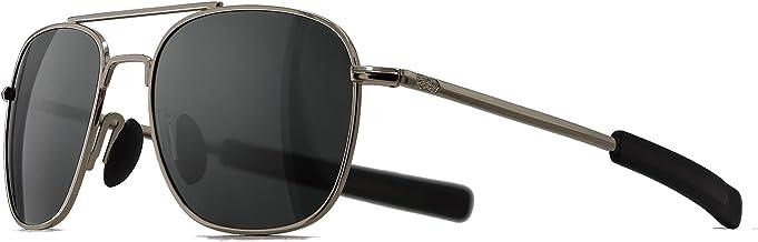 SUNGAIT Men's Military Style Polarized Pilot Aviator Sunglasses Bayonet Temples