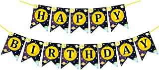 Colorful Starry Sky Happy Birthday Banner, Funny Birthday Party Decoration Supplies, Birthday Party Decoration for Adults