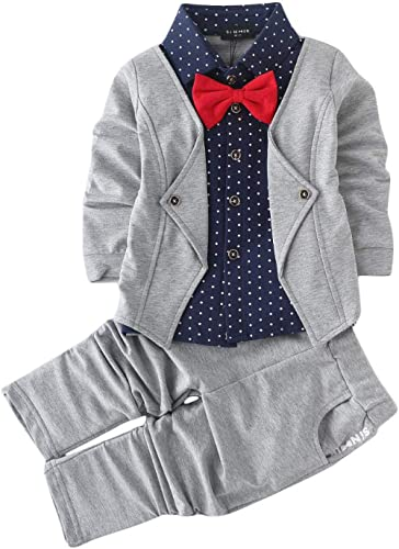 Hopscotch Boys Cotton Blazer Style Shirt and Pant Set