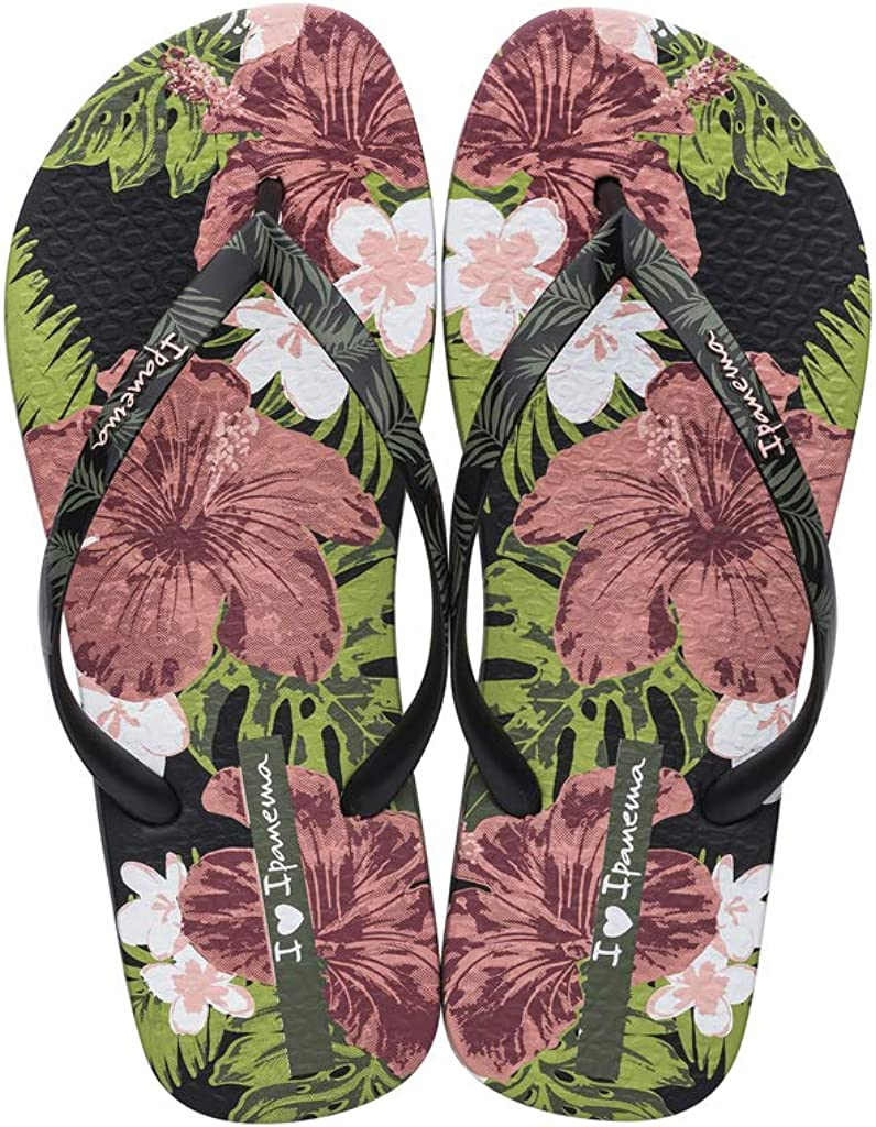 pink and black flip flops