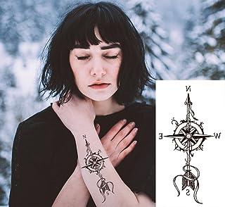 EROSPA® Tattoo-Bogen temporär - Aufkleber Kompass Pfeil No