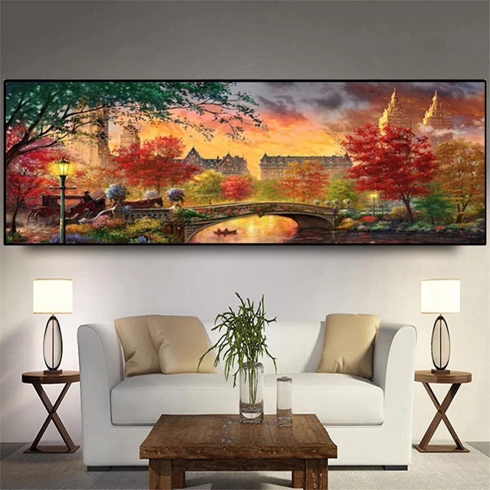 DIY 5D Diamond Painting Free Ranking TOP14 Shipping New by Number Kits Autumn City Colorful Sce
