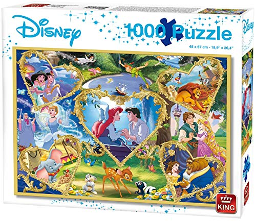 KING 55829 Disney Movie Magic Puzzle 1000 Teile, Blauer Karton