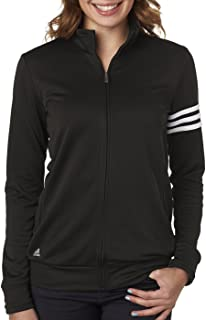 adidas Womens Climalite 3-Stripes Pullover (A191) -Black/Whit -S