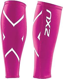 2XU Non-Stirrup Compression Calf Guard, Hot Pink