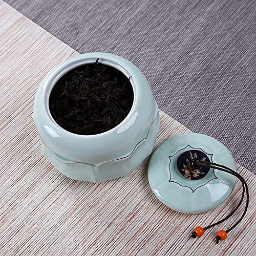 yitao Caddy de té Carrito De Té Caja De Almacenamiento De Té De Cerámica Botellas De Té Selladas Tarro De Dulces Accesorios De Té Caja De Almacenamiento De Especias Multifuncional
