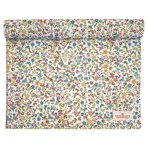 GreenGate - Tischläufer, Tischdecke - Sophia - white - Baumwolle - 140 x 45 cm