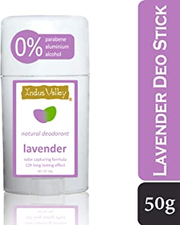 Indus Valley Alcohol Free, Aluminium Free Daily use Deodorant Stick (12 Hour Long Lasting Effect) (Lavender)