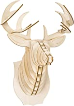 Cardboard Safari Deer Trophy Head Baltic Birch Plywood, Animal Taxidermy, Medium
