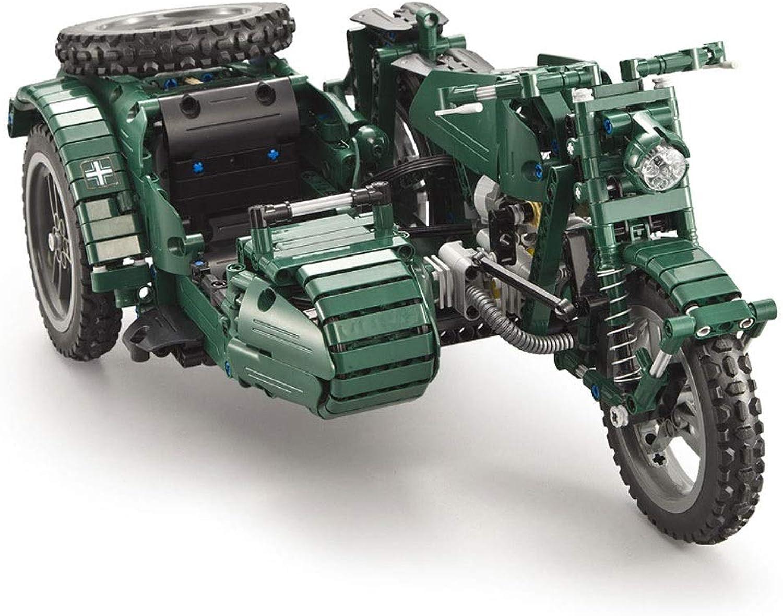 Gjliwu Fernbedienung Motorrad baustein 629 stücke DIY Modell kit, militrfahrzeug Simulation Set, rechtschreibung netzteil, Partei liefert, Dekoration